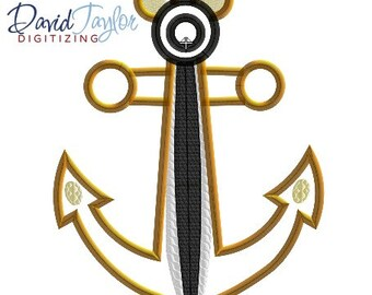 off DCL Anchor Chip OR Dale - 4x4, 5x7, 6x10 in 7 formats - Applique - Instant Download - David Taylor Digitizing