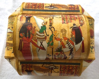 Egyptian hieroglyphics jewelry trinket box