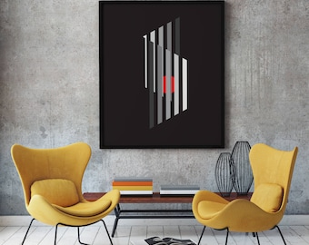 Cleanlines 2 - modernist art print