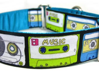 Cassette Tapes Dog Collar