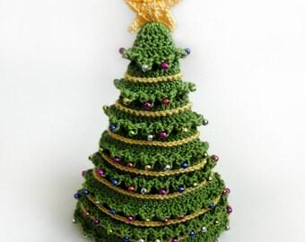Christmas Tree Hat - 5 Sizes - PDF Crochet Pattern - Instant Download