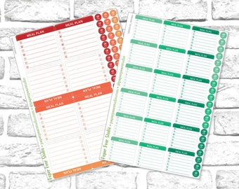 Weekly Meal Plan Stickers for Passion Planner