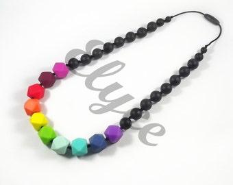 "Teething necklace beaded silicone chew, model ""Soane"""