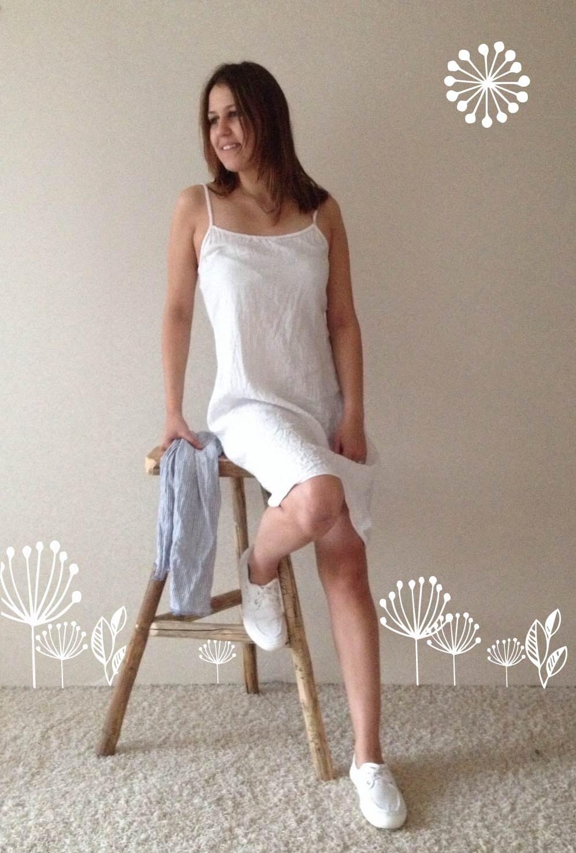 linen slip dress simple lovely off white linen base layer