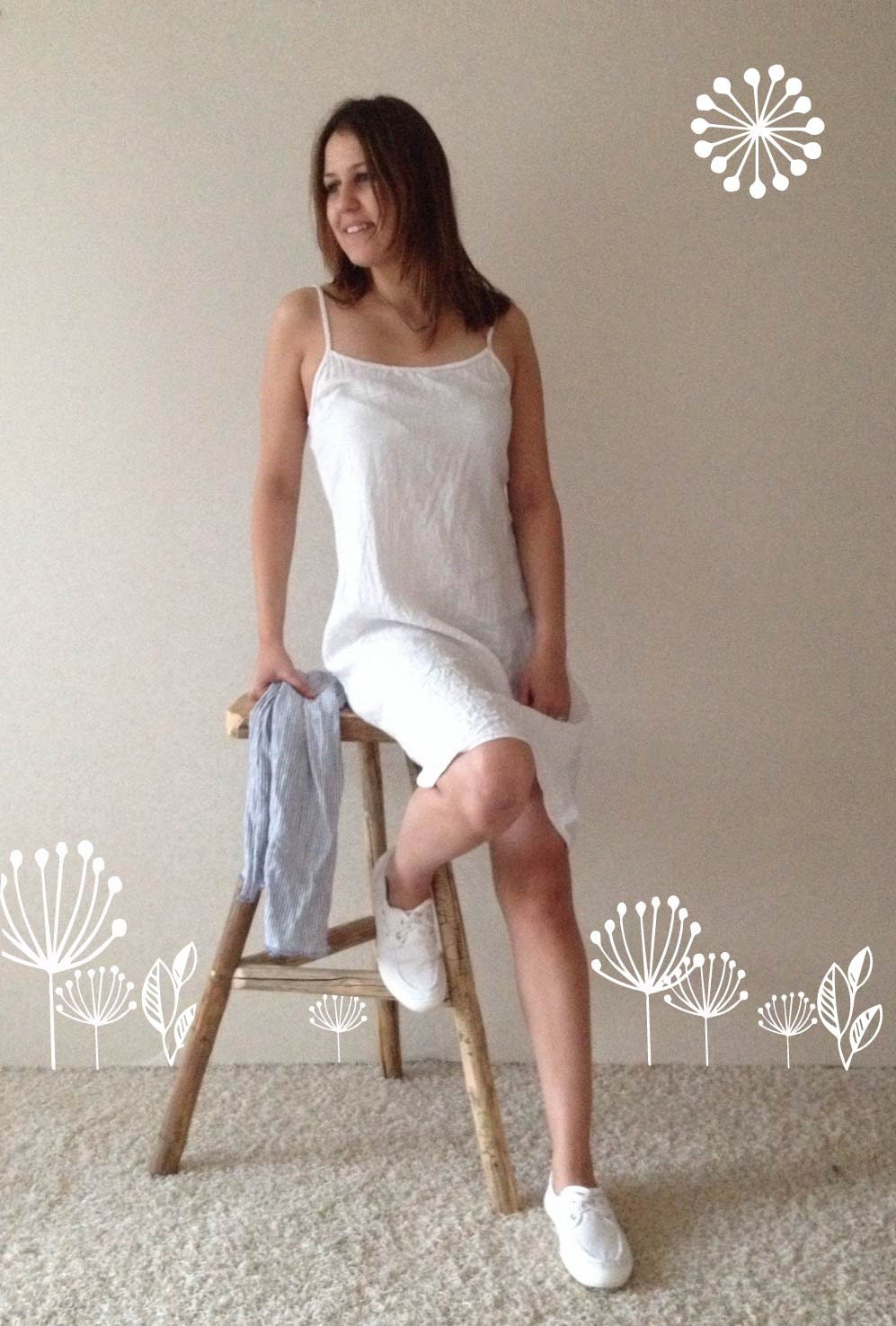 Linen Slip Dress Simple Lovely Off White Linen Base Layer