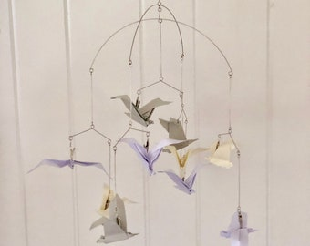 Origami Seagull Soaring Baby Mobile