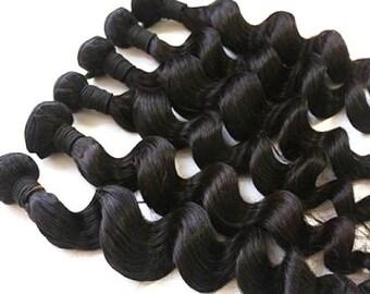 Loose wave virgin brazilian human hair bundles