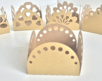48 Fretwork Silk/Shine Cake Ball - Cake Pop - Chocolate truffle wrapper papers, liners or favor box.