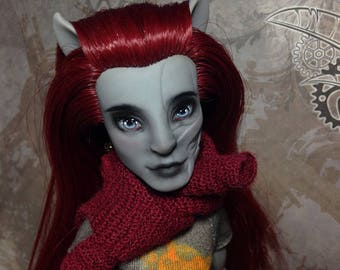 Monster High repaint doll by Dokta Art free shipping Neighthan Rot ooak