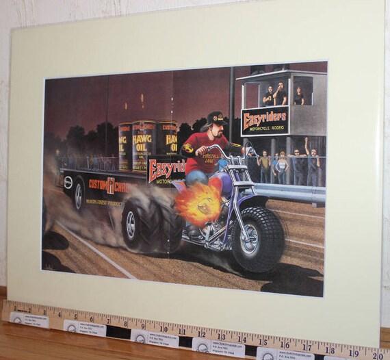 David Mann ''Rodeo Trike'' 16'' x 20'' Matted Biker Art #8904ezrxmc