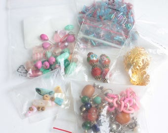 Jewelry Supply Destash Lot Craft Beads Findings Vintage Pieces