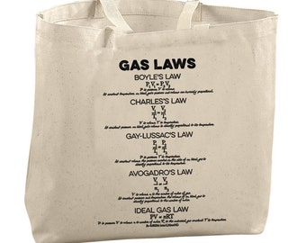 College Student Gifts for Sister Gifts for Her Gifts for Mom Girls Christmas Gifts Science Teacher Gift Gas Laws Tote Science Gear