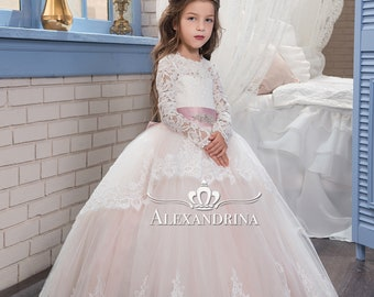 Exclusive  pegeant dress for girls  wedding - birthday dress  flower