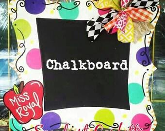 chalkboard door hanger