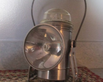 Vintage Railroad -  Miniing  Lanturn - Ecolite  Lantern  no. 200 ,Dorco MFG. Inc. Lantern Co. Sturgeon Bay,Wis.  Alum.