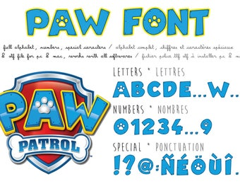 Paw Patrol font - real ttf file compatible PC and Mac - instant download