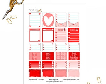 Love Letter - Planner Printable Stickers