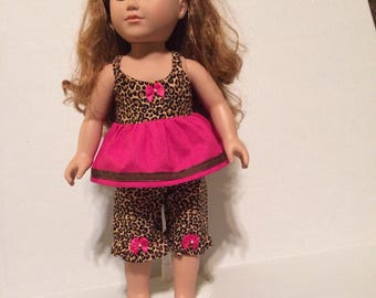 Leopard print doll outfit