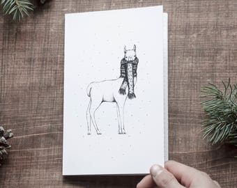 Notebook - Llama and scarf / winter collection / journal, notebook, notebook, notebook, stationery