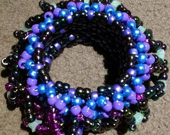 Large 3D Kandi Cuff Multicolored/Monochrome