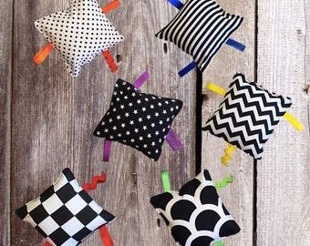 Colour & Shape Fiddle Cushions, Tactile, Sensory, Educational Fiddle Toys for Children