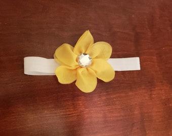 Baby Headband- Yellow Flower