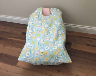car seat blanket, car seat cover, infant carrier blanket, baby carrier blanket, Night and Day Snug L Bee, winter baby travel, baby accessory