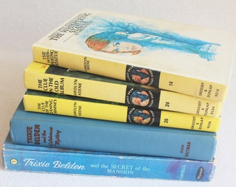 Vintage Book Journal You Choose the Book / Recycled Book // Nancy Drew Trixie Belden books by PrairiePeasant