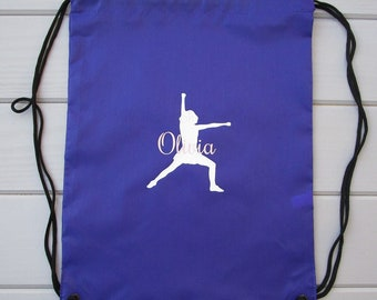 Cheerleading Drawstring Bag / Personalized Drawstring Bags / Monogrammed Drawstring Bags / Toe Touch Drawstring Bags / Stocking Stuffers
