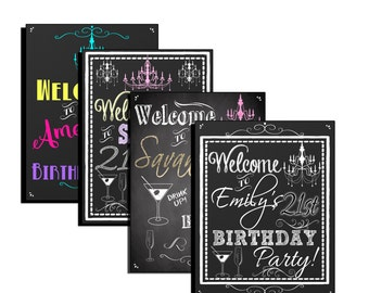 21st birthday party decor 21st birthday sign 21st birthday