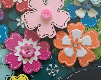 Girls Bedroom, teenage bedroom, flower Frame, girl bedroom decor, Sister Gift, Butterfly Frame, Butterfly Picture, daisy frame, Niece Gift,