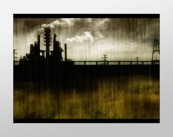 Industrial Factory Canvas Art Print, Industrial Plant Wall Art, Industrial Canvas Print, Art, Canvas Art, Canvas Print, Home Art, Wall Art