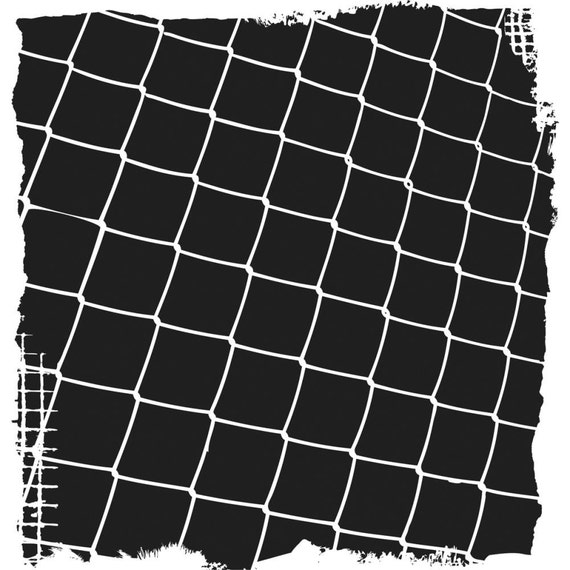 """Fence (chainlink) 6 x 6"""" Stencil /  template a Jaime Echt design perfect for mixed media, scrapbooking, journaling and so much more"""