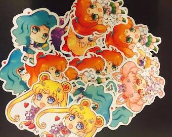 Die Cut Sailor Moon Chibi Stickers