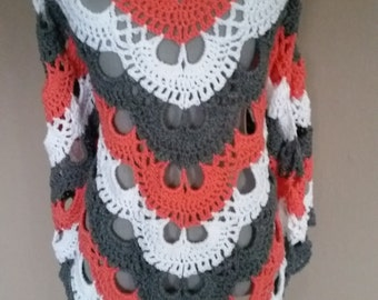 Crocheted shawl / wrap