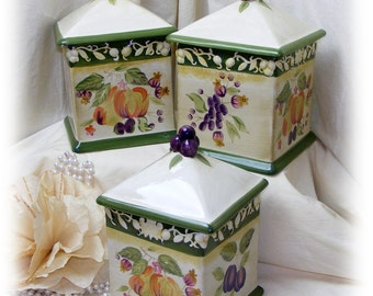 BEAUTIFUL CANISTER SET (Italian Style)