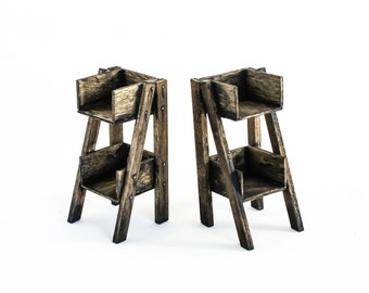 Weathered Two-Tier Plant Stand