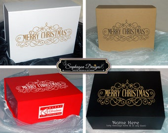 Merry Christmas Gift Boxes, Children's Christmas Boxes, Christmas Gift Box