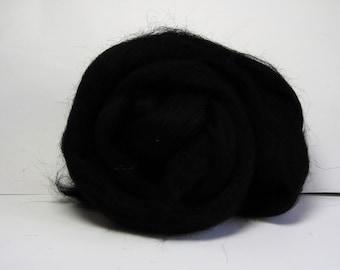 Black Merino wool approx 25g