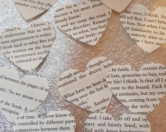 book text heart embellishments