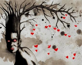 Tree Head Fine Art Print