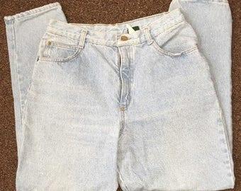 Vintage Women's Mom Jeans Made By Hunt Club Light Denim