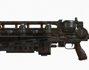 Fallout Gauss rifle replica pattern DIY guide to build your own model