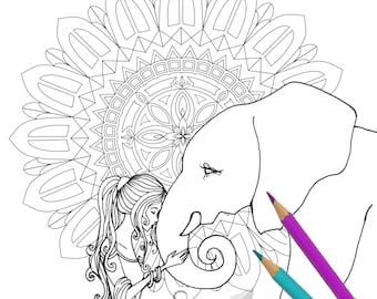 Coloring Page - Elephant Mandala