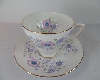 Vintage Avon Blue Blossoms Teacup & Saucer - Teacup - Avon - Bone China - Vintage - Teacup And Saucer - Kitchen - Tea Cup - Gift