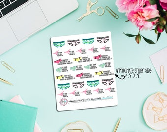 Big Girl Panties Planner Stickers! Perfect for all size planners. Perfect for ECLP, Inkwell Press, KiKKi K, Happy Planner, etc.