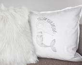 Girls quote pillow with m...