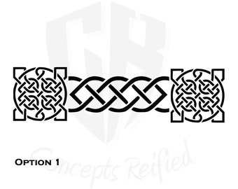 Celtic Knot Border Stencils - Two Options to Choose From - Multiple Sizes Available