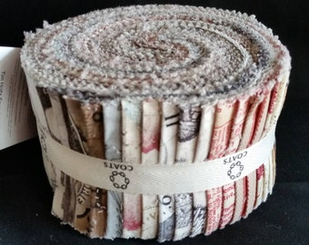 """Eclectic Elements Foundations - (40) 2.5"""" Design Roll - Tim Holtz for Coats"""