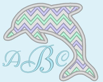 Dolphin Chevron monogram BX also ALL other (.pes .hus .dst .vp3 .vip .xxx .exp . jef)  - embroidery appliqué monogram embroidery design